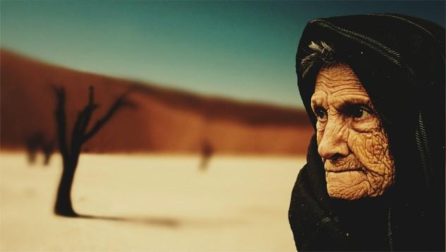 idős beduin asszony
